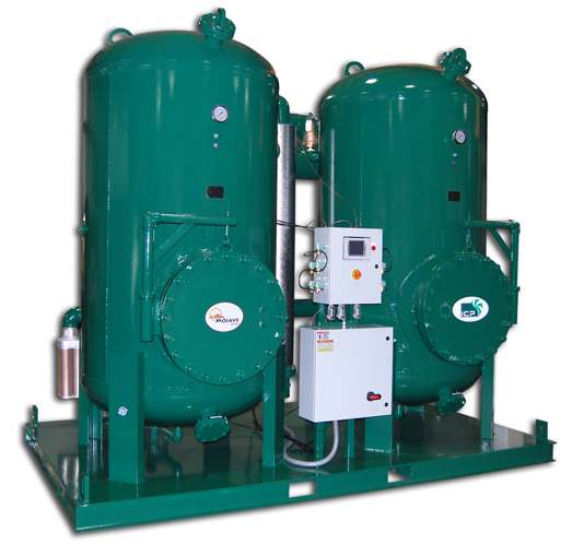 compresor industrial. idhpe6000 mojave series, heat reactivated, desiccant air dryer compresor industrial